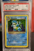 BLASTOISE 1999 Pokemon Base Set SHADOWLESS #2/102 Holographic PSA 7 NM!!!