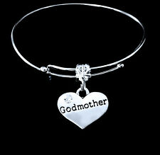 Godmother Bracelet  God mother  Godmom charm bracelet gift mothers day