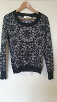 Clements Riberio Angora Wool Blend Floral Print Jumper Top Size M 12