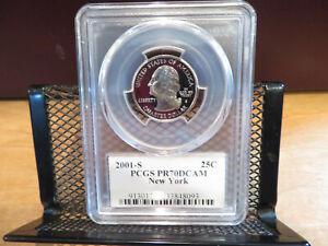 2001-S New York State Quarter PCGS PR70DCAM skcw0045