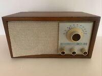 Vintage KLH Model Twenty One 21 FM Table Radio Walnut Cabinet WORKS