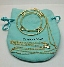 Vintage Tiffany & Co. 18k Yellow Gold Atlas Large Medallion Necklace