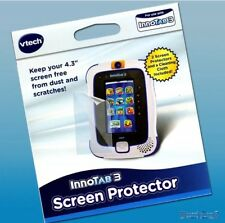 """VTech InnoTab 3 Clear Screen Dust Scratch Protector 4.3"""" - Twin Pack with Cloths"""