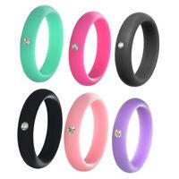 6 Stück Ring Ehering Gummiband für Männer Frauen Modeschmuck - Mehrfarbig