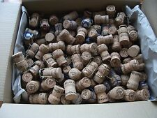 100 Used Champagne Corks (No Plastics or Synthetics) (Branded + Unbranded)