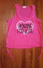 NEW Bobbie Brooks Pink Tank -  Hunting For Love - 2X sleep