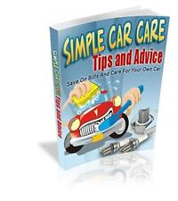 Simple Car Care Tips And Tricks EBook On CD $5.95 Plus Resale Rights Ships Free