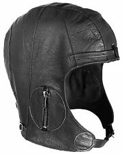 Rothco WWII Style Leather Pilots Helmet - 3572 Black M/l