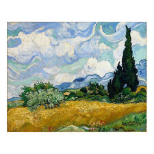 Canvas Print Van Gogh Painting Reproduction Home Decor Wall Art Wheat Field