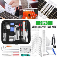 25Pcs Gitarre Reparatur Werkzeug Set Gitarren Reinigung Wartungs Gitarrenpfleges