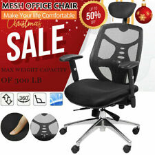 Ergonomic Office Mesh Chair Headrest Lumbar Support Executive Desk Swivel Chair