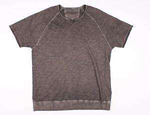 John Varvatos Gray Short Sleeve Pullover Sweatshirt Shirt Size XXL