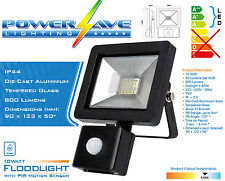 a Slimline Energy Saving Outside House Garden LED Flood Light PIR Motion Sensor 10w 100w (s10950) 3