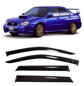 For Subaru Impreza 2000-08 Sd/Wagon Window Visors Sun Rain Guard Vent Deflectors