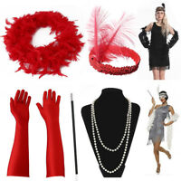 Femme Gatsby Déguisement Flapper 20S Thème Charleston Costume cosplay Accessoir