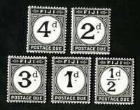 Fiji Stamps # J7-11 VF OG NH Rare Mint State
