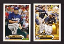 2012 Topps MILWAUKEE BREWERS Team Set w/ Updates 32 Cards Mint
