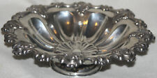 Austrian 1867-1886 .812 Solid Silver Repousse Leaf and Flower Design Bowl