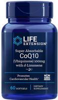 SUPER ABSORBABLE CoQ10 (Ubiquinone)  HEART BRAIN HEALTH 60 Sgel LIFE EXTENSION