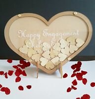 Rustic Birthday Engagement Hen's Wedding Personalized Wooden guest book gift