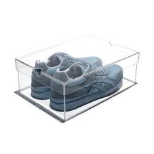NEW! LUXURY CLEAR ACRYLIC SHOEBOX - DESIGNER LUCITE SHOE STORAGE BOX - LARGE