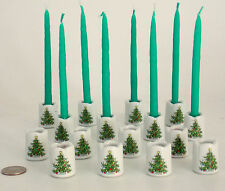 16 Petite Christmas Candleholders Porcelain Mid Century Germany (No Candles)