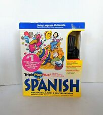 TRIPLE PLAY PLUS SPANISH LIVING LANGUAGE SERIES SPANISH LEARNING SYSTEM COMPLETE