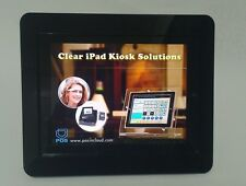 iPad 2/3/4 Black Acrylic Security VESA Enclosure w Wall Mount Kit