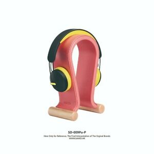 SAMDI Leather Headphone Stand (Peony Pink) For All Size Headphone