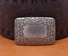 5X 32X22MM Antique Silver Western Cowboy Flower Rectangle Saddle Leather Conchos