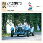 Aston Martin International Sport 1929-1932 GB/UK CAR VOITURE CARTE CARD FICHE