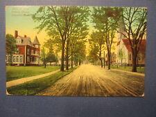 Old Vintage 1912 - UNIONVILLE CONN. - POSTCARD - Main St. from Catholic Church