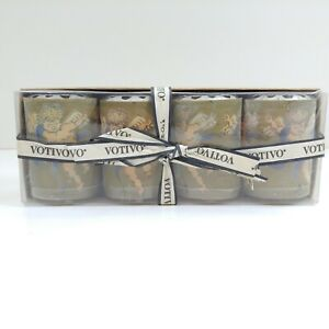 Handmade Candles Mexican Votivo Paper Wrapped boxed 4 pc. set