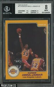 1983-84 Star Basketball #14 Kareem Abdul-Jabbar Lakers HOF BGS 8 w/ 9