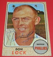 1968 Topps #59 DON LOCK Hand Signed Auto Autograph~Guaranteed Authentic