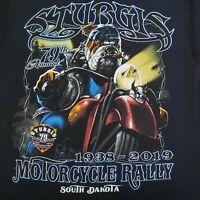 Sturgis T Shirt Bulldog Size M Black 2019 Rally NEW Ships Free