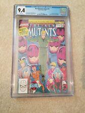 New Mutants Annual 6 CGC 9.4, freshly graded Marvel Comics 1st Shatterstar