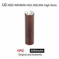 1 x LG HG2 INR18650-HG2 3000mAh 20/30A High Drain Rechargeable Lion Battery 3.7V