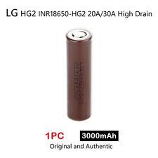 1 x LG HG2 INR18650-HG2 3000mAh 20/30A High Drain Rechargeable Lion Battery 3.7V