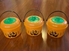 McDonald's 1993 Pumpkin Halloween Happy Meal Bucket Pail Set 3 Cookie Cutters