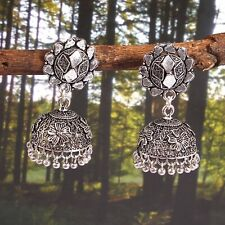 Oxidized german silver plated Light weight jhumka jhumki earrings jewellery #MJU