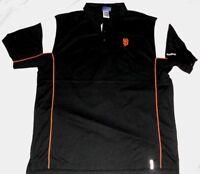 San Francisco Giants Victory Polo Shirt Large Black Embroidered Logos MLB