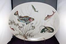 Johnson Brothers Fish Design Vintage China Serving Platter   c1950's England