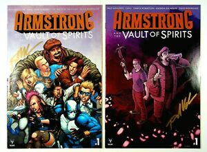 Armstrong Vault of Spirits #1 Two Variant Covers Signed Fred Van Lente Valiant