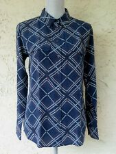 NWOT EQUIPMENT FEMME SILK BUTTON DOWN GEOMETRIC PRINT BLOUSE SIZE S