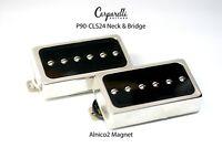 Carparelli P90 -CLS24 Nickel Silver Pickup SET Nickel Silver