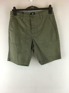 Men's H&M Relaxed Fit Short, Size 32R - Olive Green