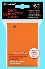 60 Ultra Pro DECK PROTECTOR Small Size Card Sleeves Orange 1 Pack Yugioh Game
