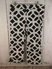 Tommy Hilfiger Stretch Nautical Navy Rope Print Cropped Capri Pants Size 10