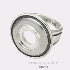 Authentic Kameleon Silver Dome Ring With Antiquing Size 6 KR027#6  *RETIRED*